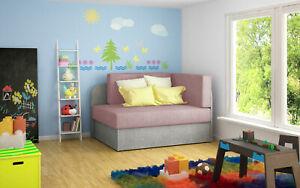 Couch mit Schlaffunktion Sofa-Schlafsessel Wohnzimmercouch RAISA Blau-Grau