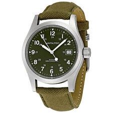 Hamilton Khaki Green Mens Manual Winding Mechanical Movement Watch H69419363-AU