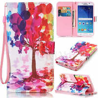 HOT Flip Leather Patterned Wallet Strap Card Case Cover For Samsung Mobile Phone
