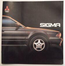 Mitsubishi Sigma 3.0 V6-24 Orig 1992 Reino Unido MKT gran prestigio folleto de ventas - 4WS