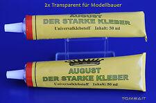 2 x AUGUST DER STARKE 100 ml Universal Klebstoff Allzweck-Kleber b31v