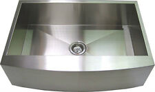 "30"" Stainless Steel Curve Apron Kitchen Farm Sink"