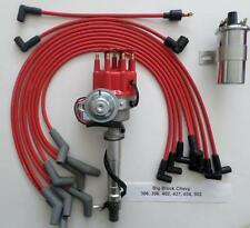 BIG BLOCK CHEVY RED 396-427-454 Small HEI Distributor+45K COIL+ SPARK PLUG WIRES