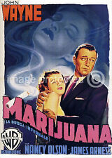 Marijuana Vintage John Wayne Movie Poster  18x24
