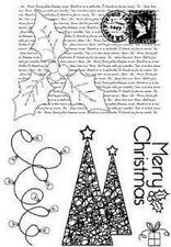 KIRSTY WISEMAN DESIGNS A6 Clear Stamps HOLLY CHRISTMAS PICS044 Merry Trees