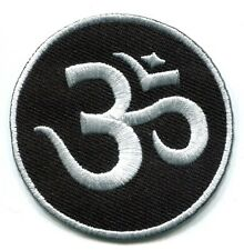Aum om infinity hindu hinduism yoga trance applique iron-on patch Small S-1