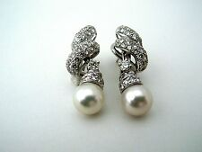Italian made earrings with 9 mm genuine Perl