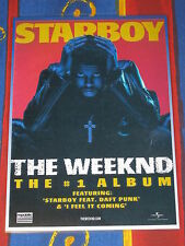 THE WEEKND - THE WEEKEND - STARBOY -  Laminated Promo Counter Poster - Daft Punk