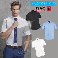 Kustom Kit Men's Slim Fit Short Sleeve Business Shirt