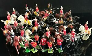 Vintage lead soldiers, horseback, Britain's, Johillco, large collection