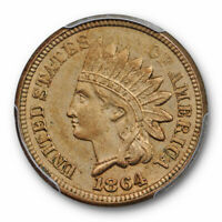 1864 Copper Nickel Indian Head Cent PCGS MS 62 Uncirculated CN Cert#7811
