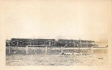 S. R. & R. L.  Narrow Gauge Railroad Box Car & Caboose Off Tracks RP Postcard