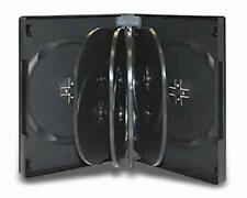 1x Hold 10 Black DVD CD Cover Cases 32mm - Holds 10 Discs