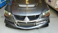 For Mitsubishi EVO 8 Ralliart Carbon Fiber Front Bottom Line Lip Splitter Refit