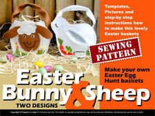EASTER FELT BAGS egg hunt baskets   - Sewing pattern booklet - Bunny And Sheep