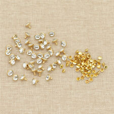 100pcs 10mm Metal Rhinestones Spikes Studs Punk Decorative For Clothing Leather