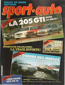 SPORT AUTO 266 1984 MONTE CARLO RALLYE SUEDE 24H DAYTONA VISA 4X4 205 GTI R25 V6