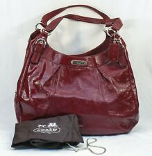 COACH MADISON MAGGIE SOHO HOBO HAND BAG F19708 RED PATENT LEATHER b48c ST135