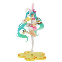 Hatsune Miku Sakura Cose Rabbit Ear Ver PVC Anime Action Figure Collection