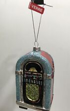 Nwt JukeBox Glass Christmas Tree Decoration/Ornaments
