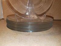 "Set of 8 Classique Clear Glass France 7  12/16"" Plates"