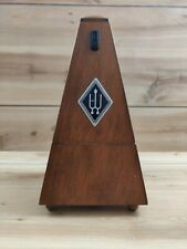 Vintage Wittner Metronome Wood Made In Germany Walnut
