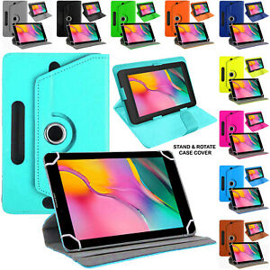 """Universal 10"""" Leather Case For Dragon Touch Tablets 360 Rotate Flip Stand Cover"""