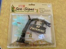 New listing Vintage Penn Plax Sea SignsAquarium Fish TankNo Swimming Ornament 1989