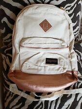 JanSport Backpack Rucksack Day Pack Leather Bottom - Rose Gold