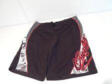 O'Neill Men's Swim Trunks Size 36'' Black Red Swimming Shorts w/ Side Zip Pocket