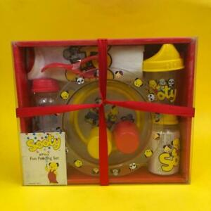 Rare Vintage Sooty Sweep Soo Toy Themed Baby Bowl Bottle Cup Feeding Gift Set