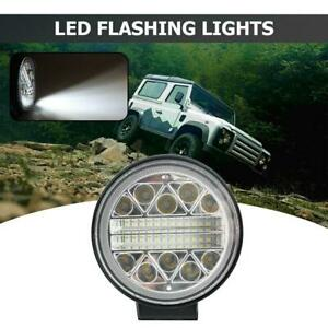 1x LED 102W Round Strobe Work Lamps Offroad SUV Tractor Car Driving Fog Lights