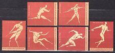 POLAND 1960 Matchbox Label - Cat.Z#196/201IV set, Olympic Games ROME 1960.