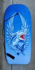 """39.5""""x 18"""" Metal Shark Boogie Board Wave Body Water Board Wrist Ankle Strap"""