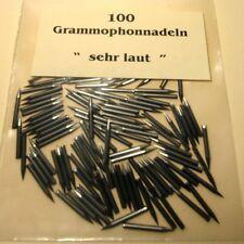 100 Grammophonnadeln 'Sehr Laut', Schellack Nadeln Gramophone Needles extra Loud
