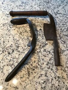 2 ANTIQUE COOPERS SHAVES D.R.BARTON 1832 ROCHESTER NY, MAYBE GRAVES