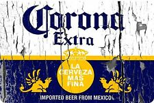 """Corona Extra beer label vintage look Reproduction Metal Sign 8"""" X 12"""" Aluminum"""