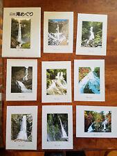 Set of 8 Postcards Japan Waterfalls circa 1990 VG - NM Condition Vintage Unused