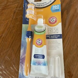 Arm & Hammer Fresh Spectrum 360 Toothbrush and Toothpaste for Adult Dogs