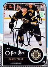 DANIEL PAILLE, BOSTON BRUINS, RARE AUTO'D/SIGNED NHL CARD, 1.