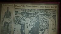 1936 Olympics US newpapers scrapbook with Jesse Owens and other US athletes