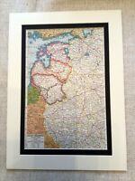 Antique Map Print Baltic Sates Lithuania Slovenia Estonia Vintage Art