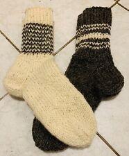 Schafwollsocken Schafwolle reine Wolle, Socken von Hand gestrickt Gr. 38 - 46