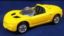 Maisto 2001 Opel Speedster Yellow with Black Interior 1/64 Convertible diecast