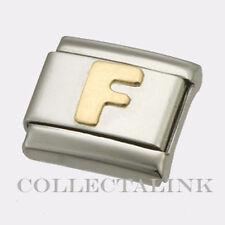 "Original Nomination Classic Gold ""F"" Charm"