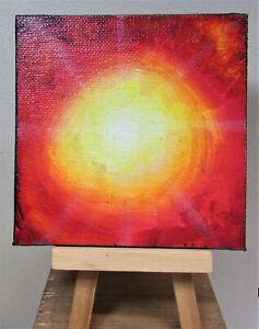 Sunburst Original Abstract Painting Art by Rain Crow