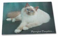 Birman Cat 'Purrrfect Daughter' Extra Large Toughened Glass Cutting, , PD-85GCBL