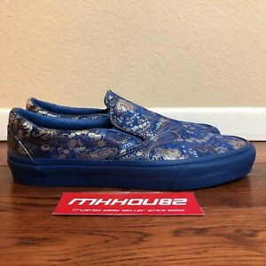 New Opening Ceremony Vans OG Classic Slip-On Qi Pao II Silk Collection Size 10.5