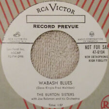 "(45 Promo) (Hear) The Burton Sisters - ""Wabash Blues"" - Girl Group / Pop (1955)"