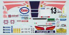 PEUGEOT 306 MAXI TRAVAGLIA RALLY CITTA' DI TORINO 1999  DECALS 1/43